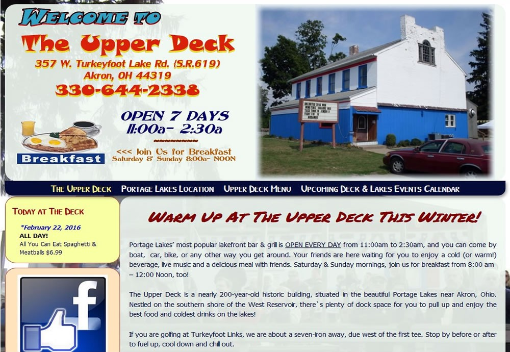 The Upper Deck, Portage Lakes, OH 44319