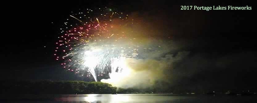 Portage Lakes Fireworks 2017
