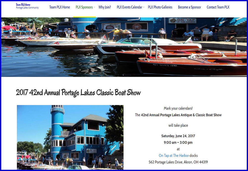 Portage Lakes Antique & Classic Boat Show
