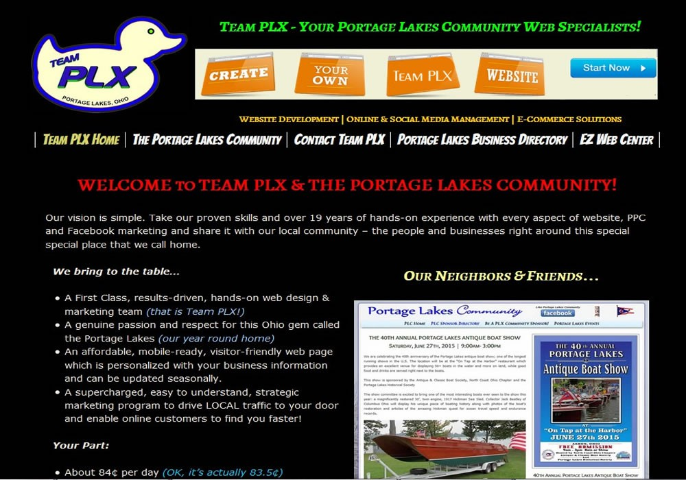 Team PLX - Portage Lakes Web Management Specialists