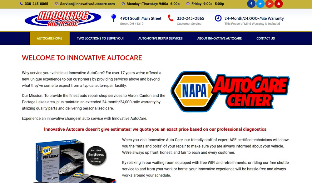 Innovative AutoCare - Nationwide NAPA Warranty