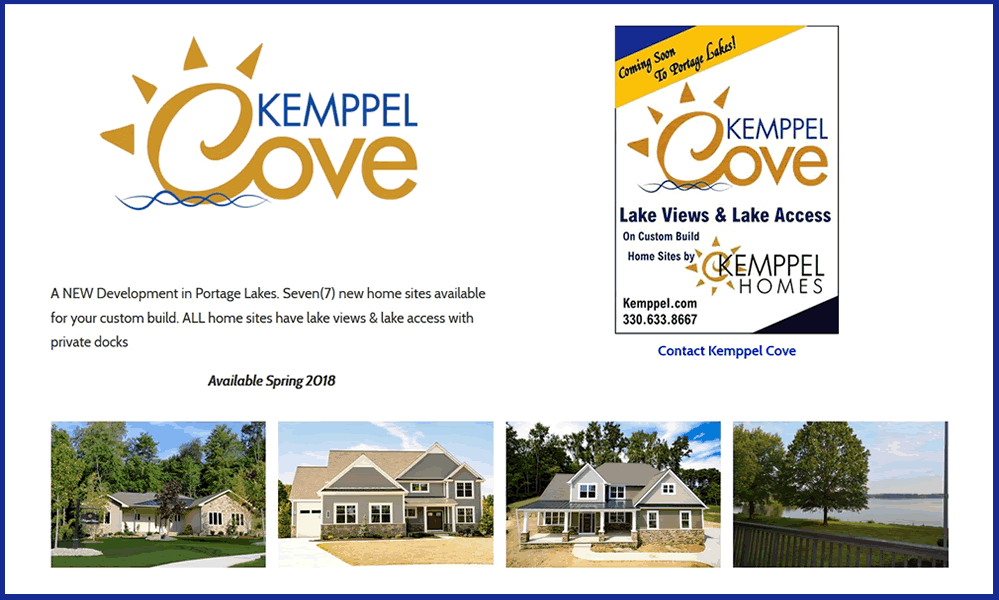 Kemppel Cove Homes - Portage Lakes